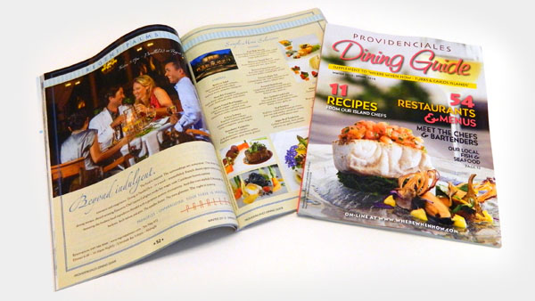 The 2011 Providenciales Dining Guide.
