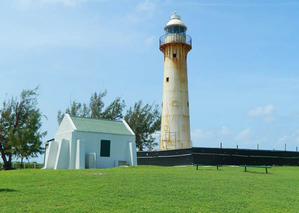 A photograph of the Grand Turk Lighthouse, erected in 1852, Grand Turk, Turks and Caicos Islands, British West Indies