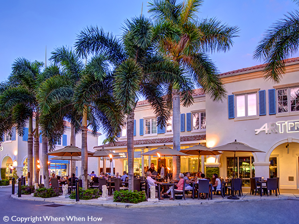 A photograph of Le Bouchon du Village in the Regent Village, with a large following. Grace Bay, Providenciales (Provo), Turks and Caicos Islands.