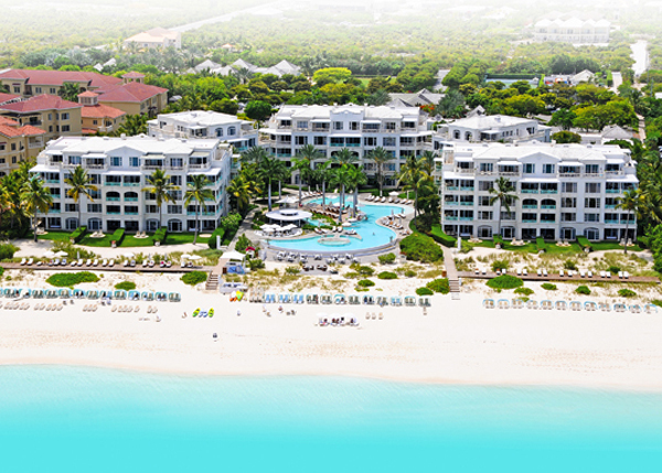 A photograph of Regent Palms, Grace Bay Beach, Providenciales (Provo), Turks and Caicos Islands.