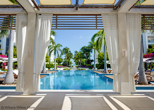 A photograph of the Gansevoort T+C Resort, Grace Bay Beach, Providenciales (Provo), Turks and Caicos Islands.