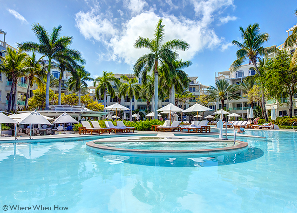 A photograph of The Palms Resort, Grace Bay, Providenciales (Provo), Turks and Caicos Islands.