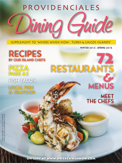 Magazine Cover 2016 Providenciales Dining Guide