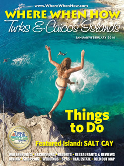 Magazine cover January / February 2016 Where When How - Turks & Caicos Islands