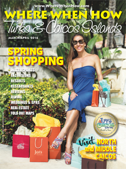 Where When How - Turks & Caicos Islands - March / April 2016 magazine cover.