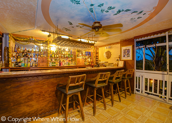 A photograph of The welcoming bar at Bella Luna Ristorante, Grace Bay, Providenciales (Provo), Turks and Caicos Islands.