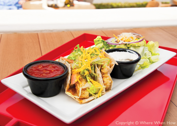 A photograph of the Fish Tacos at Danny Buoys Bar and Restaurant, Grace Bay, Providenciales (Provo), Turks and Caicos Islands.