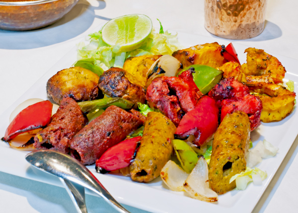 A photograph of Mix Grill Platter at Garam Masala Indian Restaurant, The Regent Village, Providenciales (Provo), Turks and Caicos Islands.