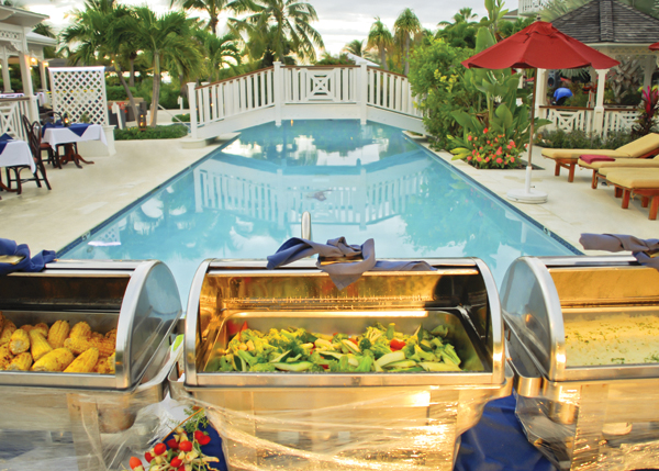 A photograph of Vegetables at Pelican Bay Restaurant & Bar, Royal West Indies Resort, Providenciales (Provo), Turks and Caicos Islands.