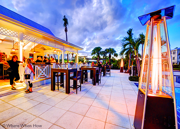 A photograph of Pelican Bay Restaurant & Bar, Royal West Indies Resort, Providenciales (Provo), Turks and Caicos Islands.