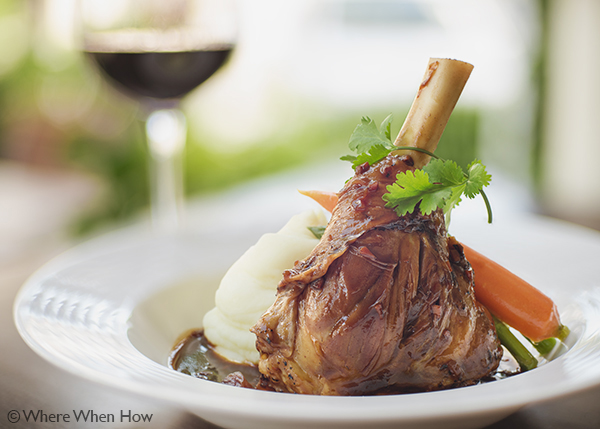 A photograph of Lamb Shank at The Vix Bar & Grill, Regent Village, Grace Bay, Providenciales (Provo), Turks and Caicos Islands.