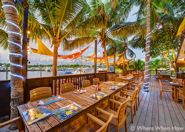 A photograph at the Tiki Hut Island Eatery, Turtle Cove, Providenciales (Provo), Turks and Caicos Islands.