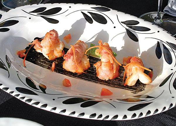 A photograph of Shrimp with Squid Ink at Via Veneto, Ports of Call, Providenciales (Provo), Turks and Caicos Islands.