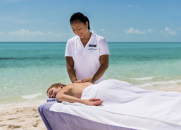 A photograph of Spa Tropique massage, Providenciales (Provo), Turks and Caicos Islands.