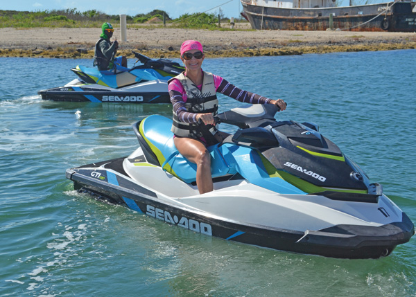 A photograph of SeaDoo jetski rentals, Providenciales (Provo), Turks and Caicos Islands.