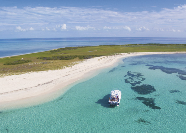 A photograph of luxury cruise to French Cay, Providenciales (Provo), Turks and Caicos Islands.