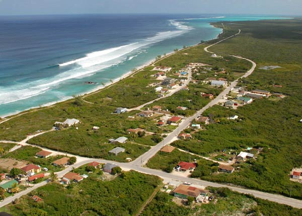 A photograph of Conch Bar village, Middle Caicos, Turks and Caicos Islands, British West Indies