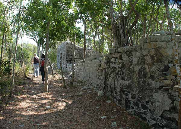 A photograph of Wades Green Plantation, North Caicos, Turks and Caicos Islands, British West Indies