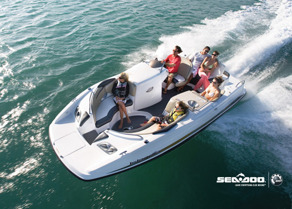 A photograph of SeaDoo 23' Challenger Sport Boat on Providenciales (Provo), Turks and Caicos Islands