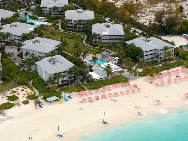 A photograph of the Ocean Club Resort, Grace Bay Beach, Providenciales (Provo), Turks and Caicos Islands, British West Indies