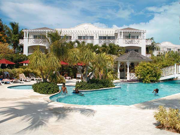 A photograph of the Royal West Indies Resort, Grace Bay Beach, Providenciales (Provo), Turks and Caicos Islands, British West Indies