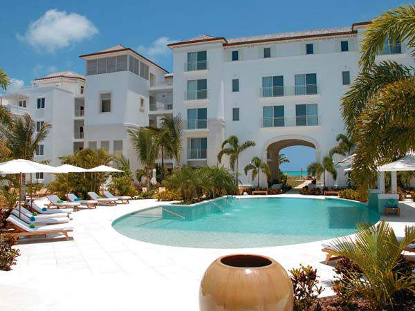 A photograph of The West Bay Club, Grace Bay Beach, Providenciales (Provo), Turks and Caicos Islands, British West Indies
