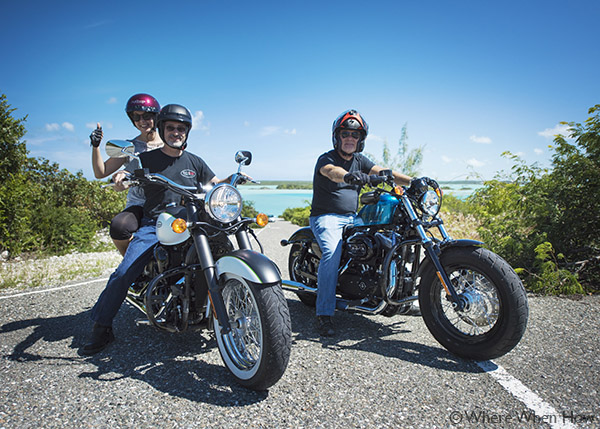 A photograph of Ride TCI motorcycle tours, Providenciales (Provo), Turks and Caicos Islands, British West Indies