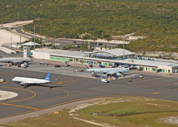 A photograph of Providenciales International Airport PLS the Turks and Caicos Islands