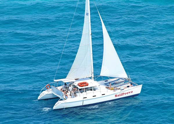 A photograph of Sail Provo's ultimate sailing tour, Providenciales (Provo), Turks and Caicos Islands