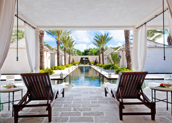 A photograph of the lounge area at The Palms Spa on Providenciales (Provo), Turks and Caicos Islands