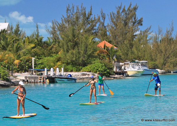 A photograph of stand up paddleboarding around Providenciales and the Turks and Caicos Islands