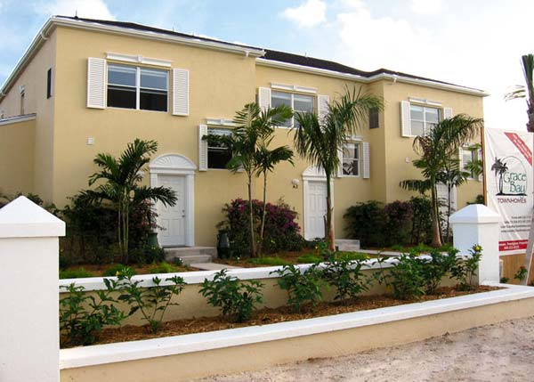 A photograph of the Grace Bay Townhomes, Providenciales (Provo), Turks and Caicos Islands, British West Indies