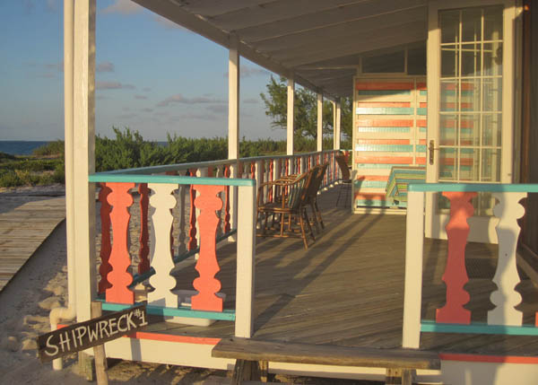 A photograph of the beachfront Castaway Villa on Salt Cay, Turks and Caicos Islands, British West Indies