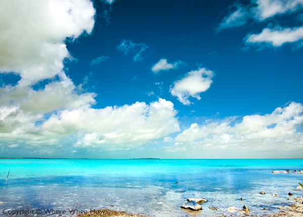 A photograph of the view to the Caicos Banks on South Caicos, Turks and Caicos Islands, British West Indies