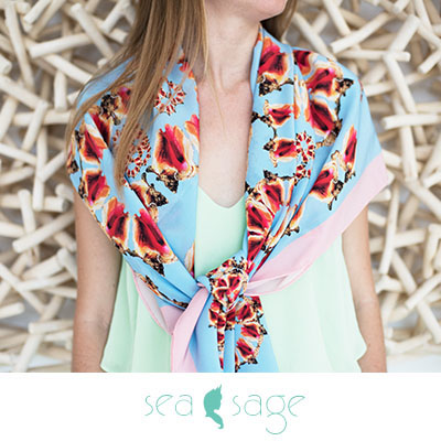 sea sage scarves inspired by providenciales turks and caicos islands