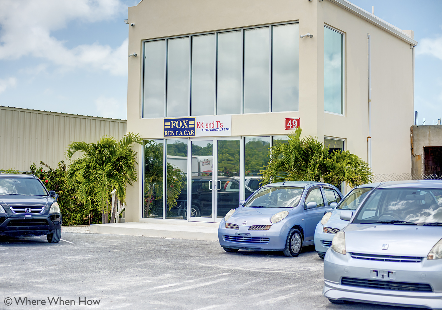 A photograph of K K and T Auto Rentals, Providenciales, Turks and Caicos Islands