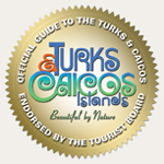 The Turks and Caicos Islands Tourist Board endorsement logo for Where When How Turks and Caicos Islands magazine